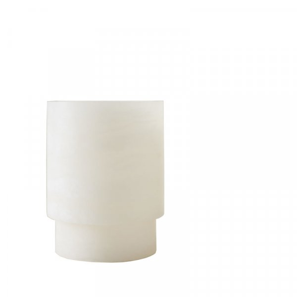 Extra Large White Alabast Tealight