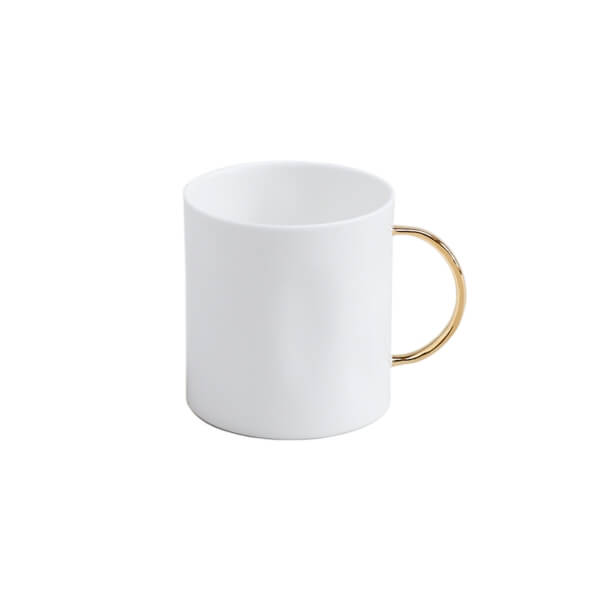 Gold Tea Mugs, Set of 6
