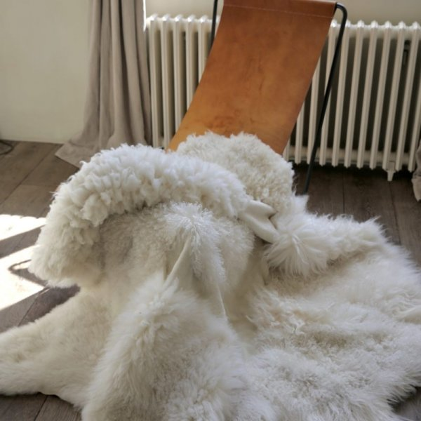 Large Sheepskin Patchwork Rug