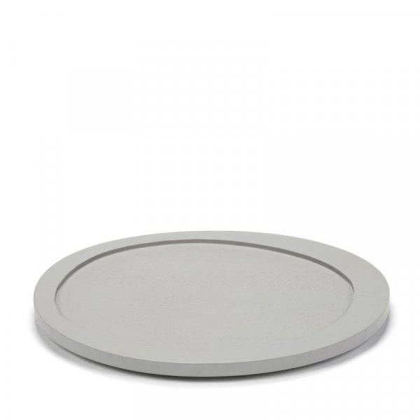Long Asymmetrical Tray in Light Grey