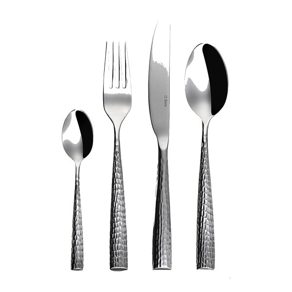 Miracle Hammered Cutlery, Set of 24