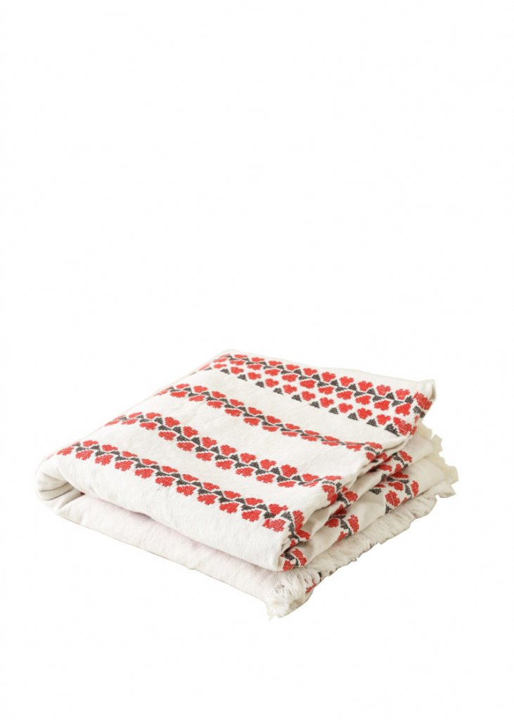 Ruby Embroidered Tablecloth