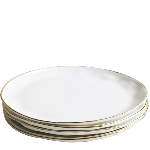 Gold Dinner Plates, Set of 6