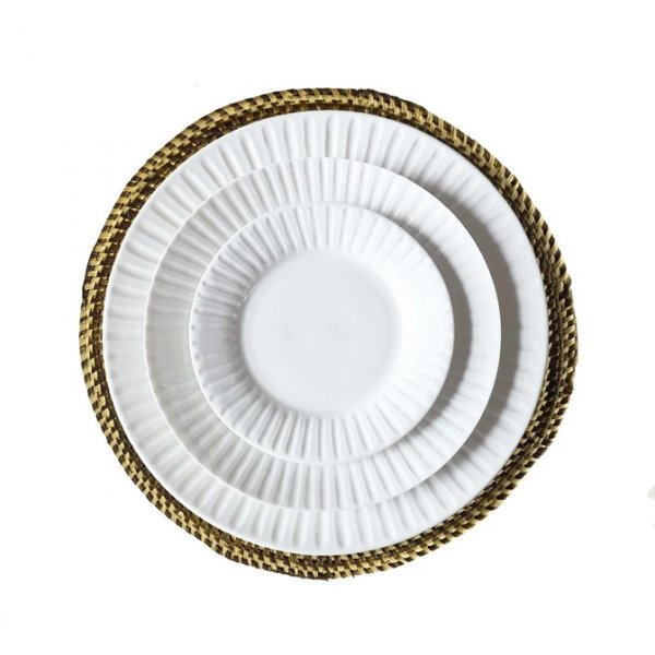 Private: Brown & Natural Hand Woven Straw Placemat