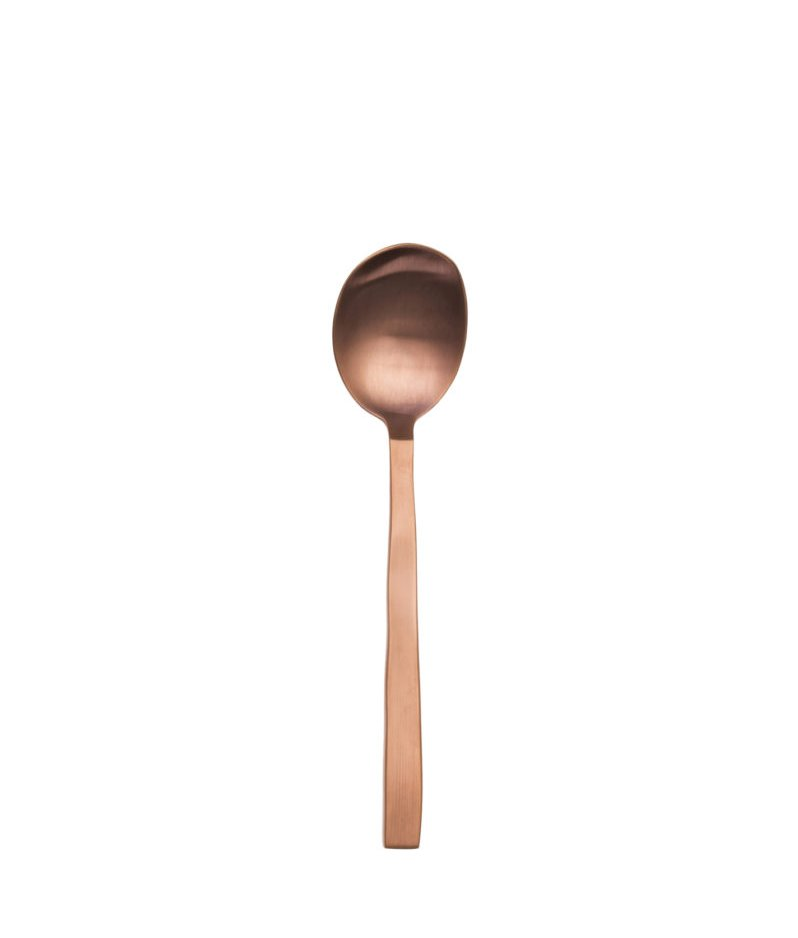 Brushed Copper Coffee Spoon