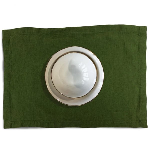 Private: Dark Green Linen Placemat