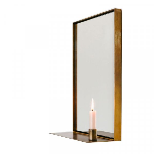 Georgette Mirror in Aged Brass