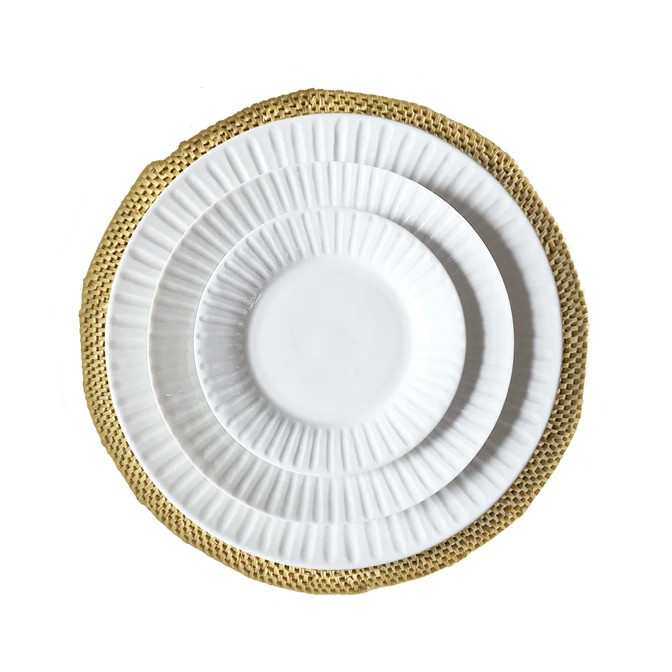 Natural Hand Woven Straw Placemat – Set of 4