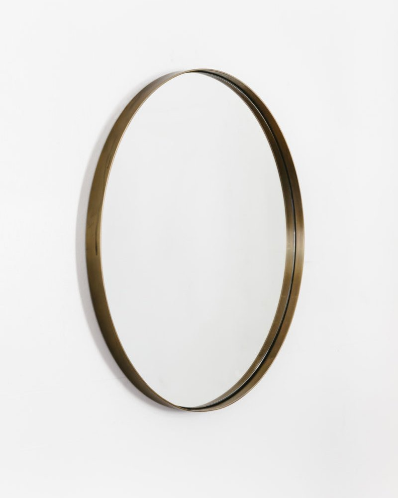 Small Béatrice Mirror in Aged Brass