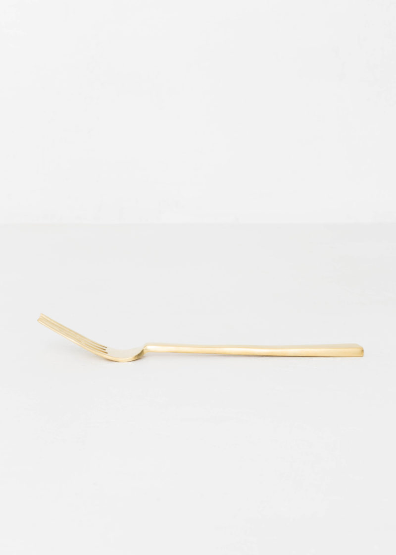 Brushed Brass Table Fork