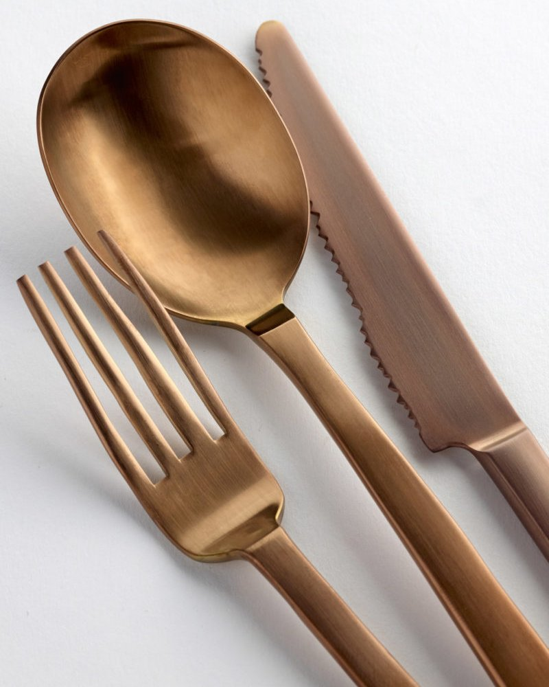 Brushed Copper Table Spoon