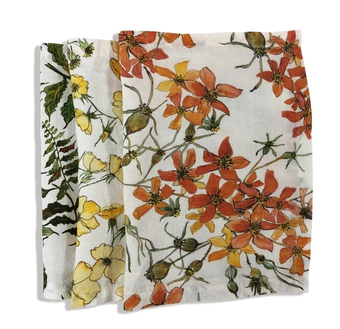 Yellow Rose Linen Placemat