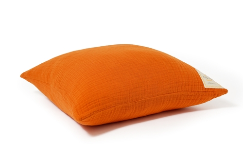 Sunrise Orange Fluffy Cotton Cushion