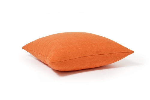 Orange Linen Decorative Pillow