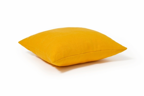 Yellow Linen Decorative Pillow