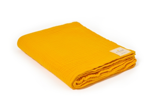 Sweet Yellow Fluffy Cotton Throw