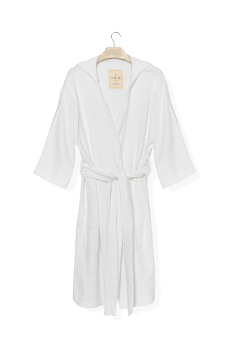 Cotton White Mini Terry Robe