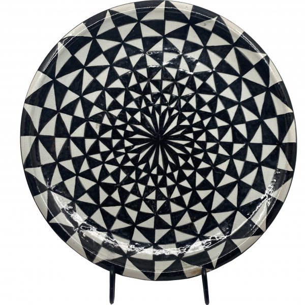 Private: Black and White Morrocan Platter