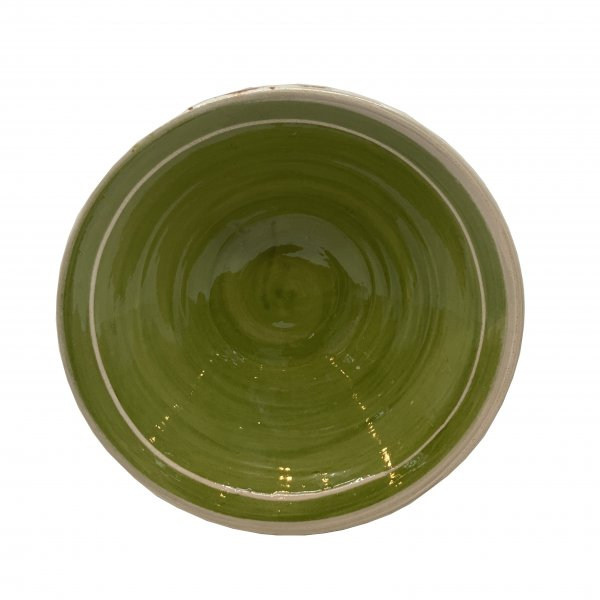 Private: Hand Painted Green Terracotta Bowl