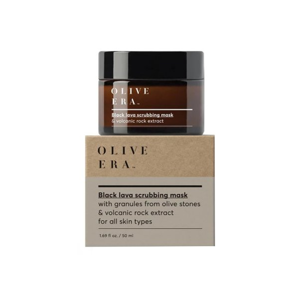 Private: Black Lava Scrubbing Mask with Granules From Olive Stones & Volcanic Rock Extract 50ml