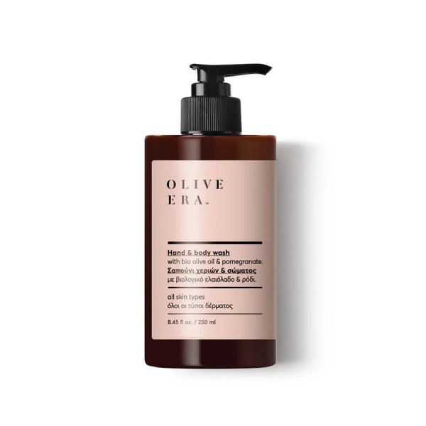 Hand & Body Wash with Bio Olive Oil & Pomegranate 250ml