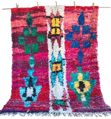 Multicolored Boucherouite Rug – Safiyah