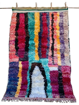 Multicolored Boucherouite Rug – Zayna