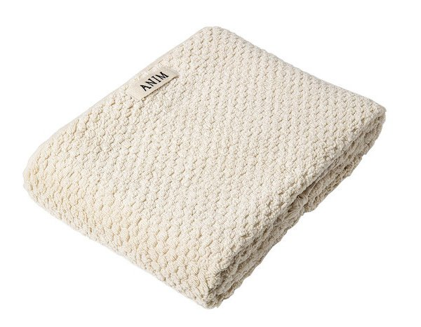 Beige Checked Terry Bath Towel
