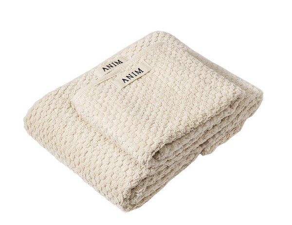 Beige Checked Terry Towel Set