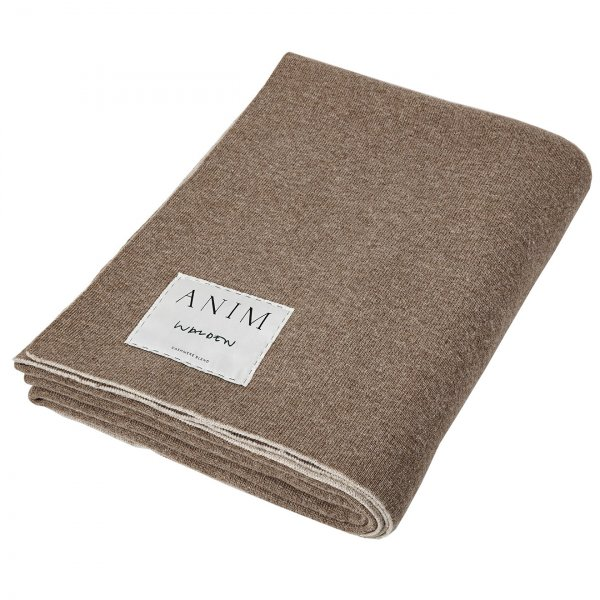 Private: Beige / Tabac Cashmere Mix Double Face Throw