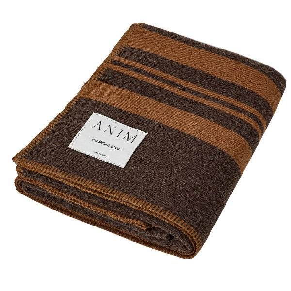 Brown Multicolor Walden Striped Lambswool Throw