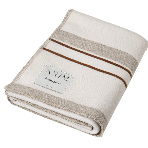Cream Multicolor Walden Striped Lambswool Bed Throw