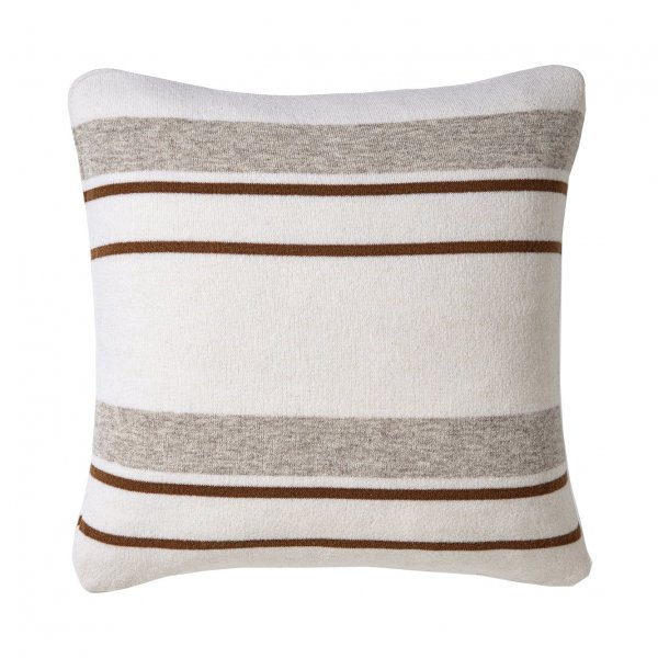 Private: Cream Multicolor Walden Striped Lambswool Pillow