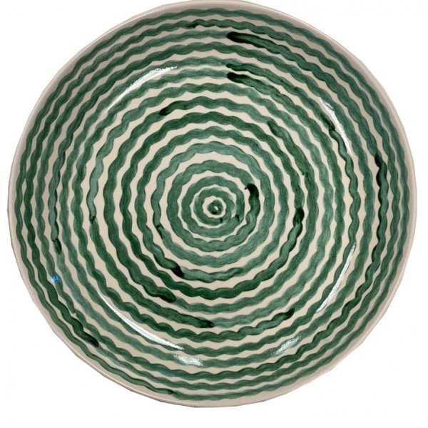 Private: Green Squiggle Serving Bowl