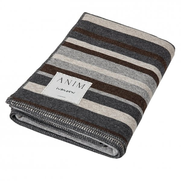 Private: Grey Multicolor Walden Striped Lambswool Bed Throw