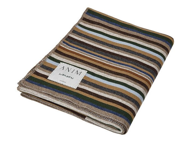 Private: Multicolor Walden Striped Lambswool Throw