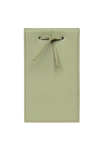 Leather Telephone Pad Sage