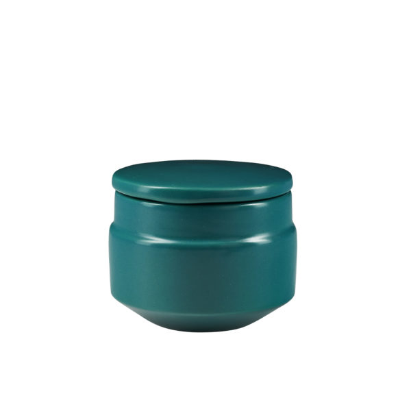 Matt Green Ceramic Sugar Pot