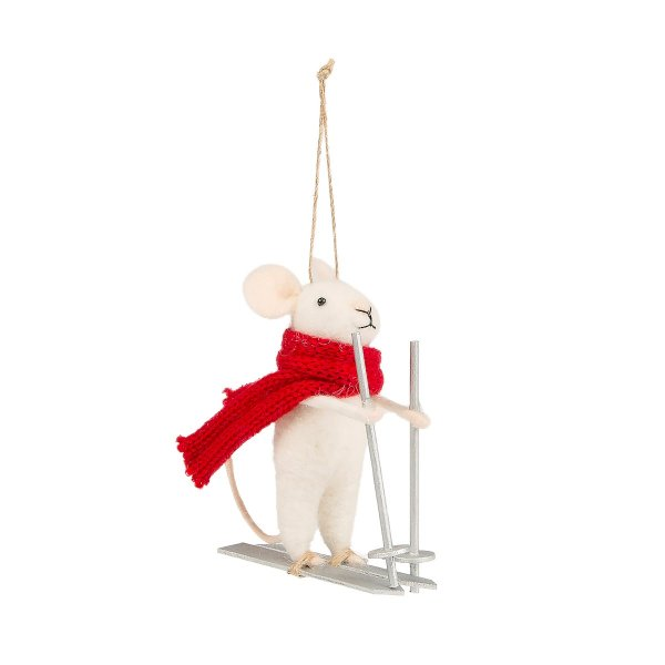 Private: Skiing Mouse Felt Decoration
