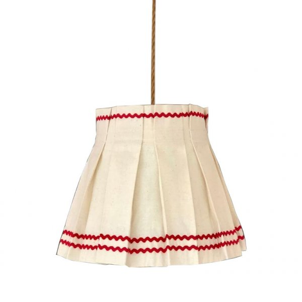 Triple Red Ric Rac Lampshade
