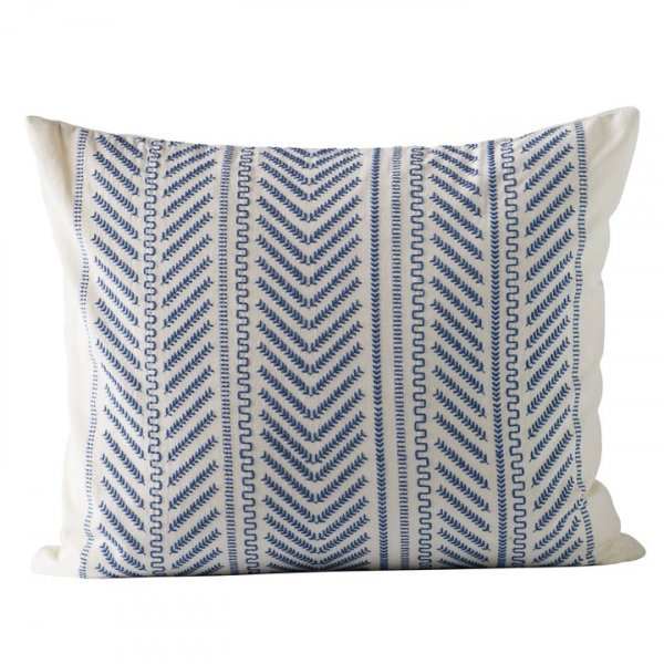 Blue Cushion Cover in Cotton