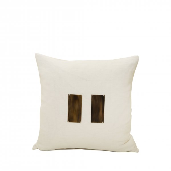 Pampa Linen Cushion – White