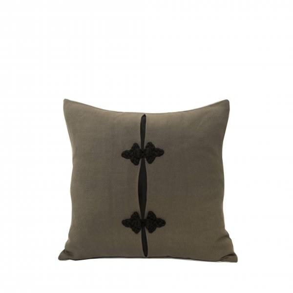 Sevilla Linen and Silk Cushion – Grey