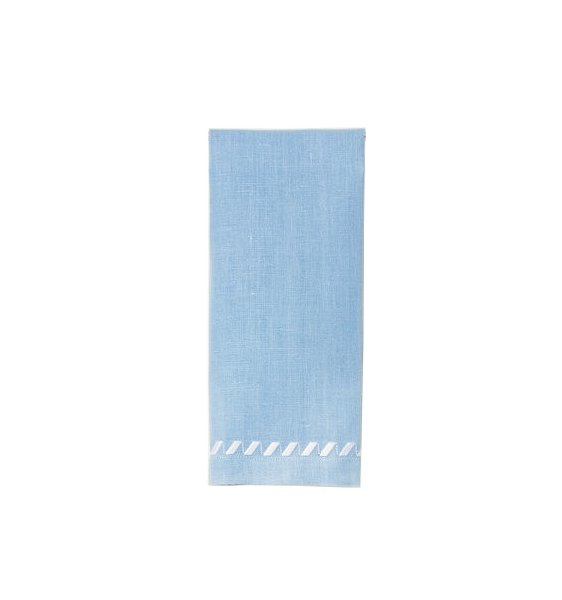 """Clisi"" Guest Towel Blue/White"