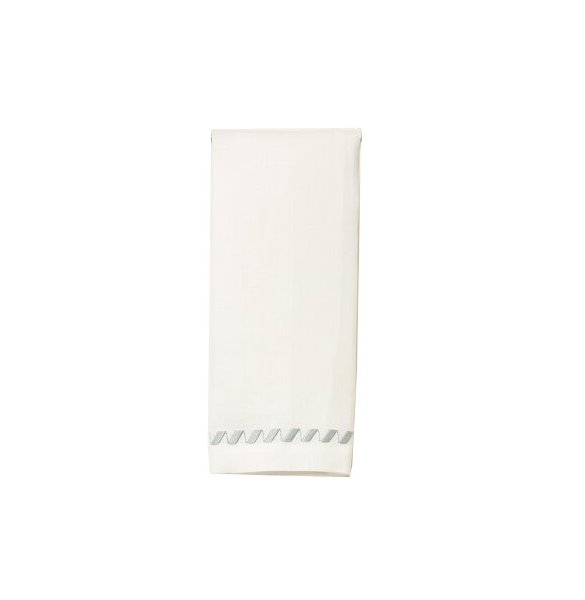 """Clisi"" Guest Towels White/Grey"