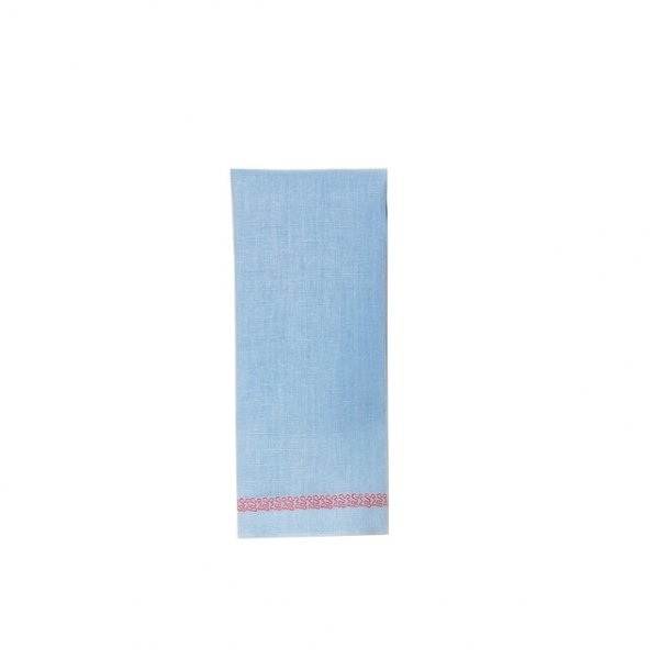 """Fidi"" Guest Towel Blue/Red"