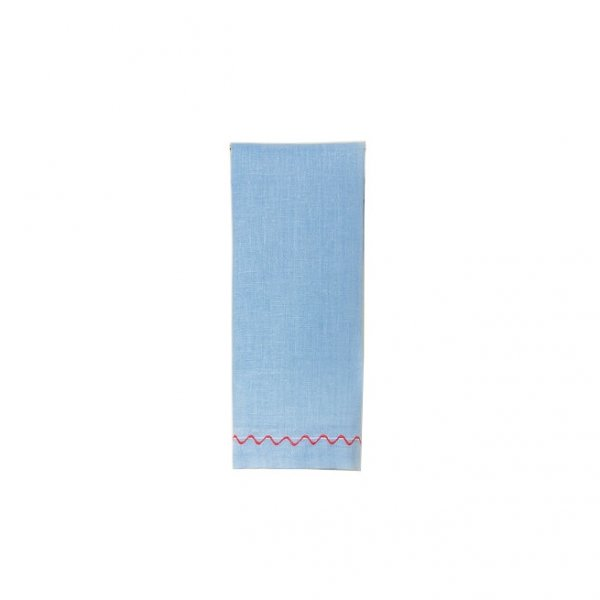 """Onda"" Guest Towel Blue/Red"