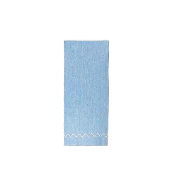 """Onda"" Guest Towel Blue/White"