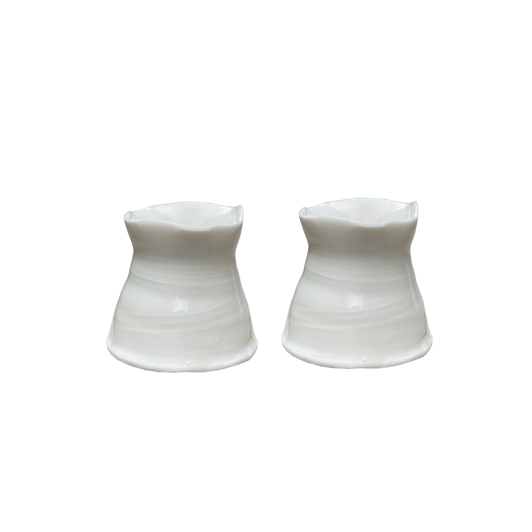 Joanna Ling Ceramics Candle Holder Small, Set of 2