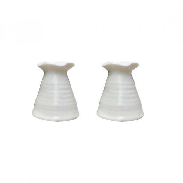 Joanna Ling Ceramics Candle Holder Tall, Set of 2